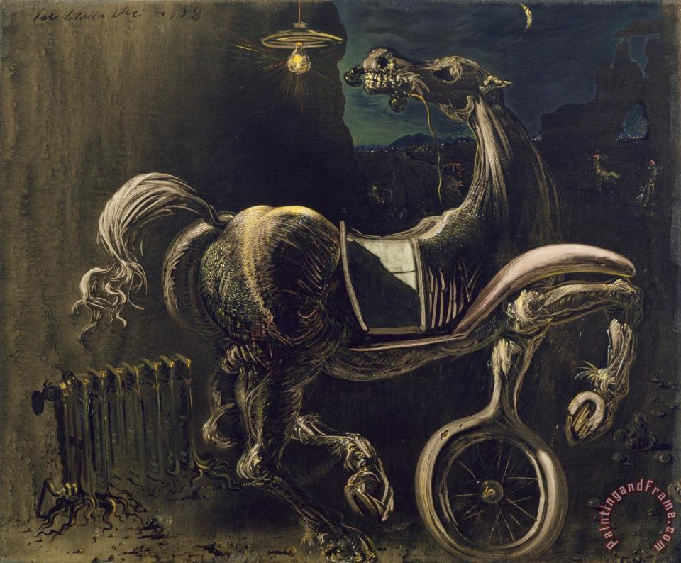 debris_of_an_automobile_giving_birth_to_a_blind_horse_biting_a_telephone_1938