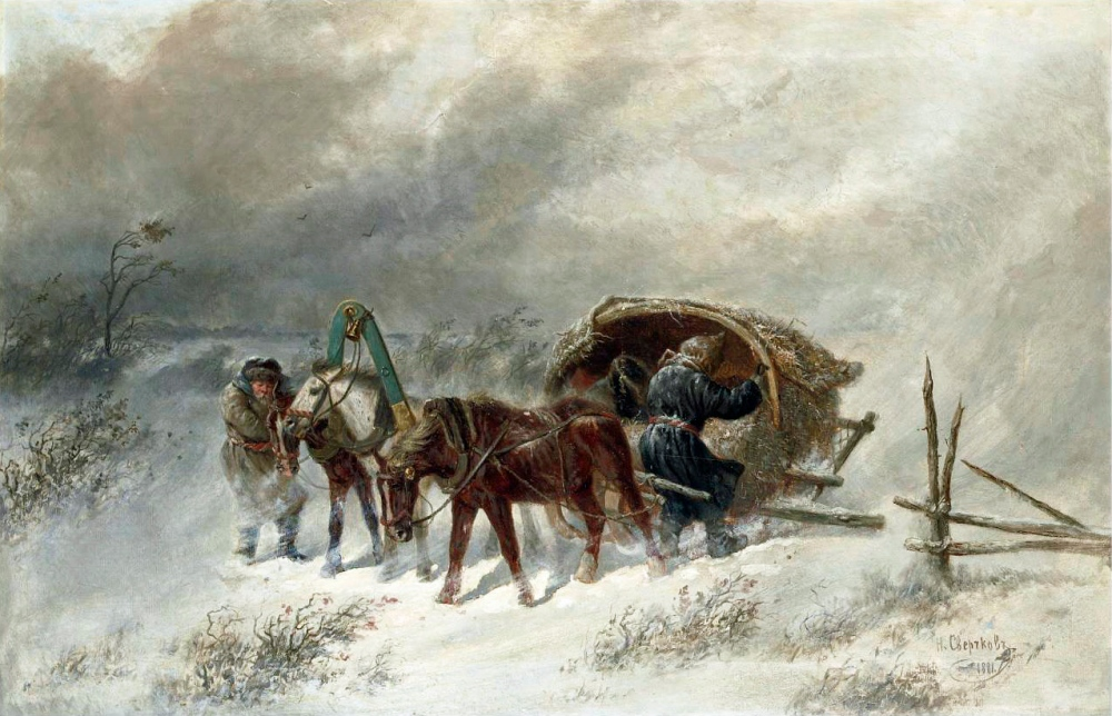 Nikolai Sverchkov - A Troika in a Blizzard