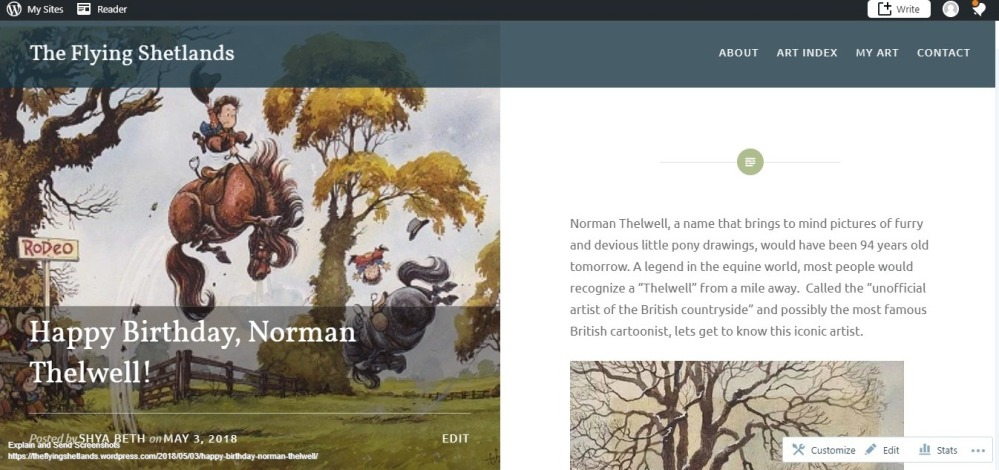 Screenshot of Happy Birthday, Norman Thelwell! – The Flying Shetlands.jpg